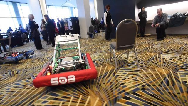 FIRST Robotics demonstration at NAIAS