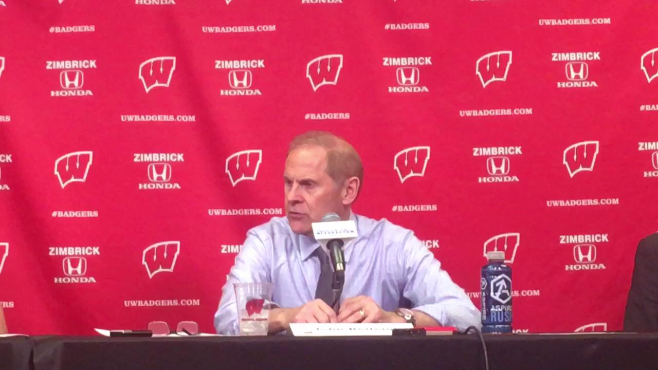 Michigan coach talks about team's performance following Tuesday's 68-64 defeat.