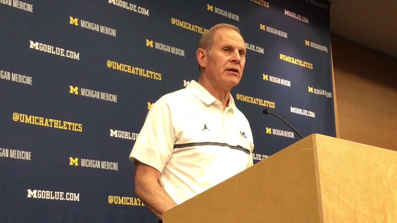 Michigan coach John Beilein talks about challenges of facing the No. 11 Badgers at home.