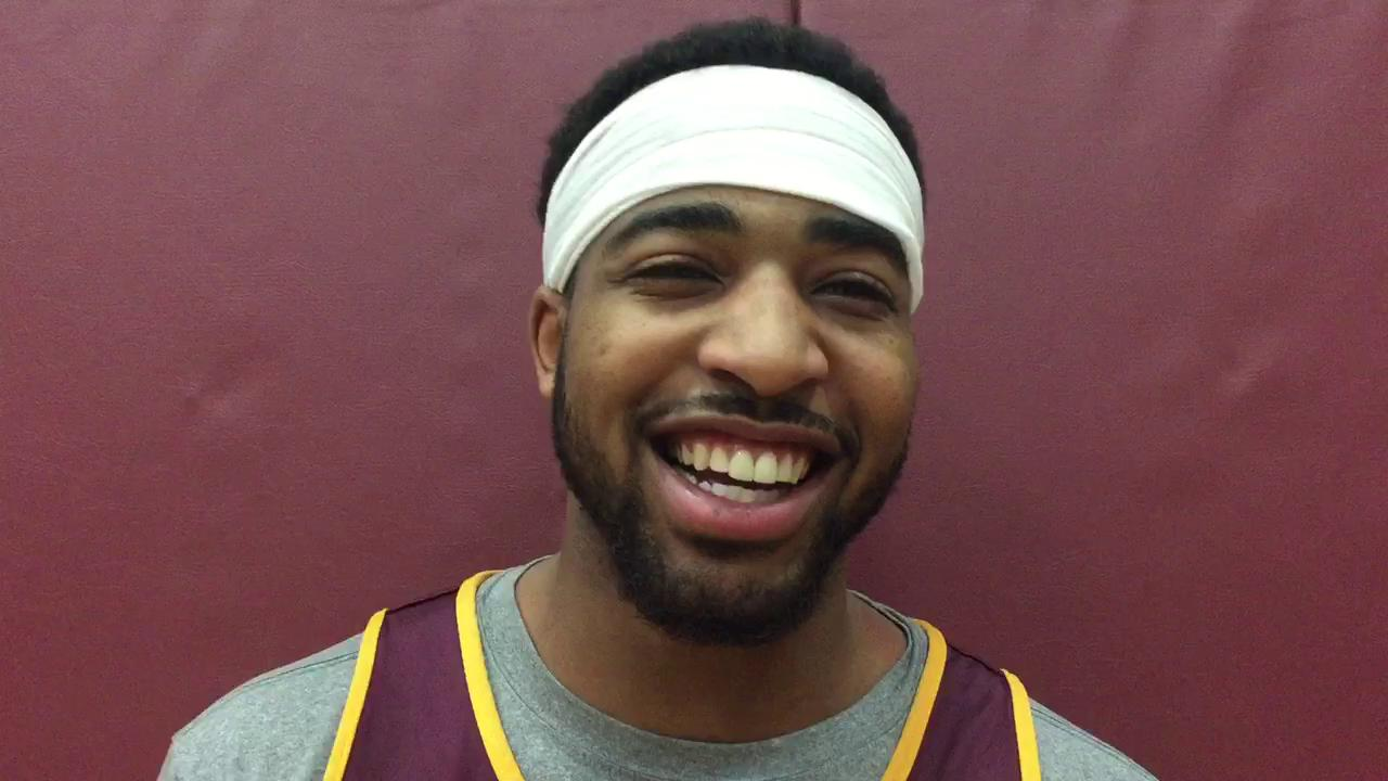 Central Michigan's Marcus Keene relives his winning 3-pointer against Western Michigan on Feb. 3.