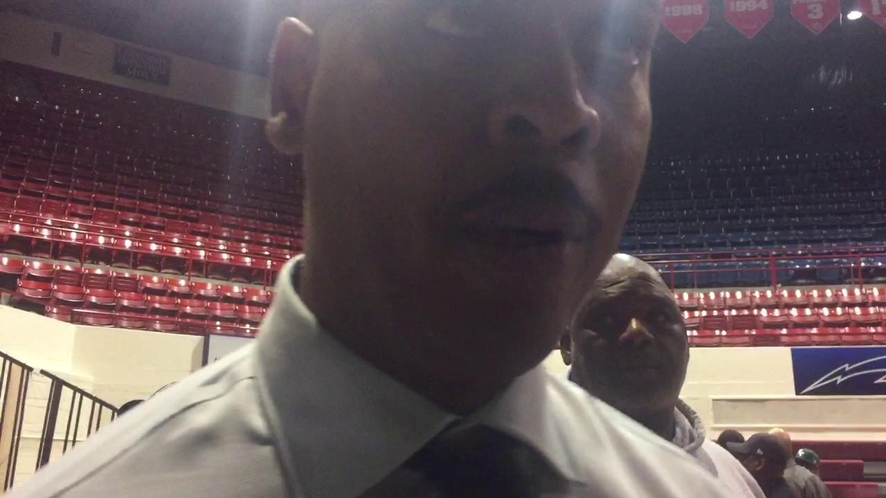 Detroit Cass Tech boys basketball coach Steve Hall talks about his team's 59-47 win over Detroit King for the school's first Detroit PSL title since 1998.