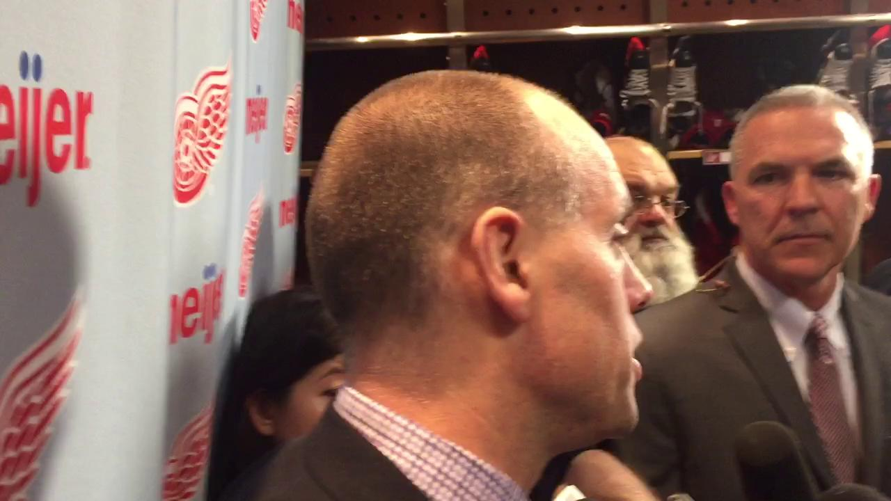 Coach Jeff Blashill on the Red Wings' 3-1 loss to the Islanders.