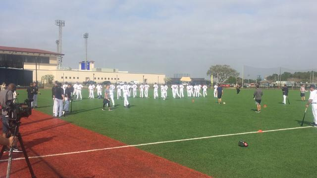 Tigers pitchers and catchers begin first official workout