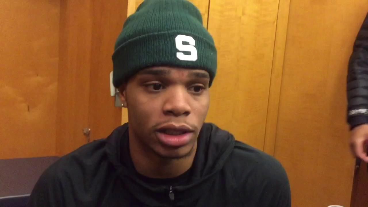 Miles Bridges scored 15 points for the Spartans