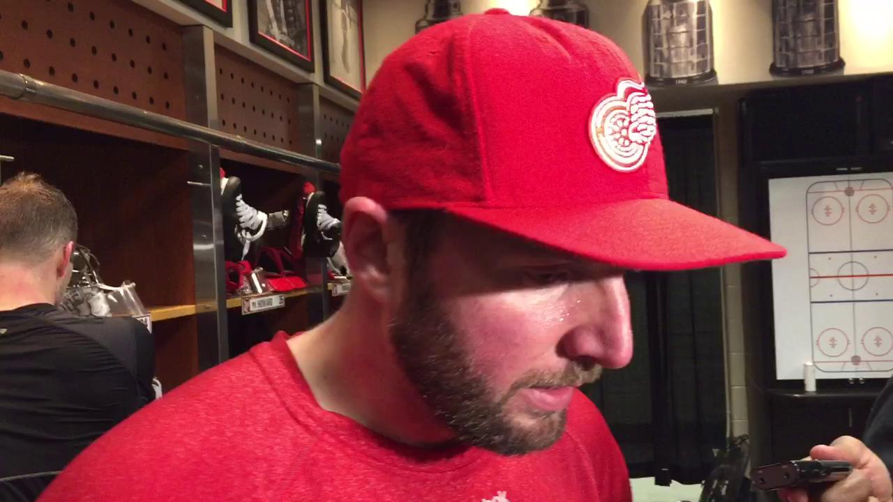 Red Wings forward Thomas Vanek on the team's current situation.