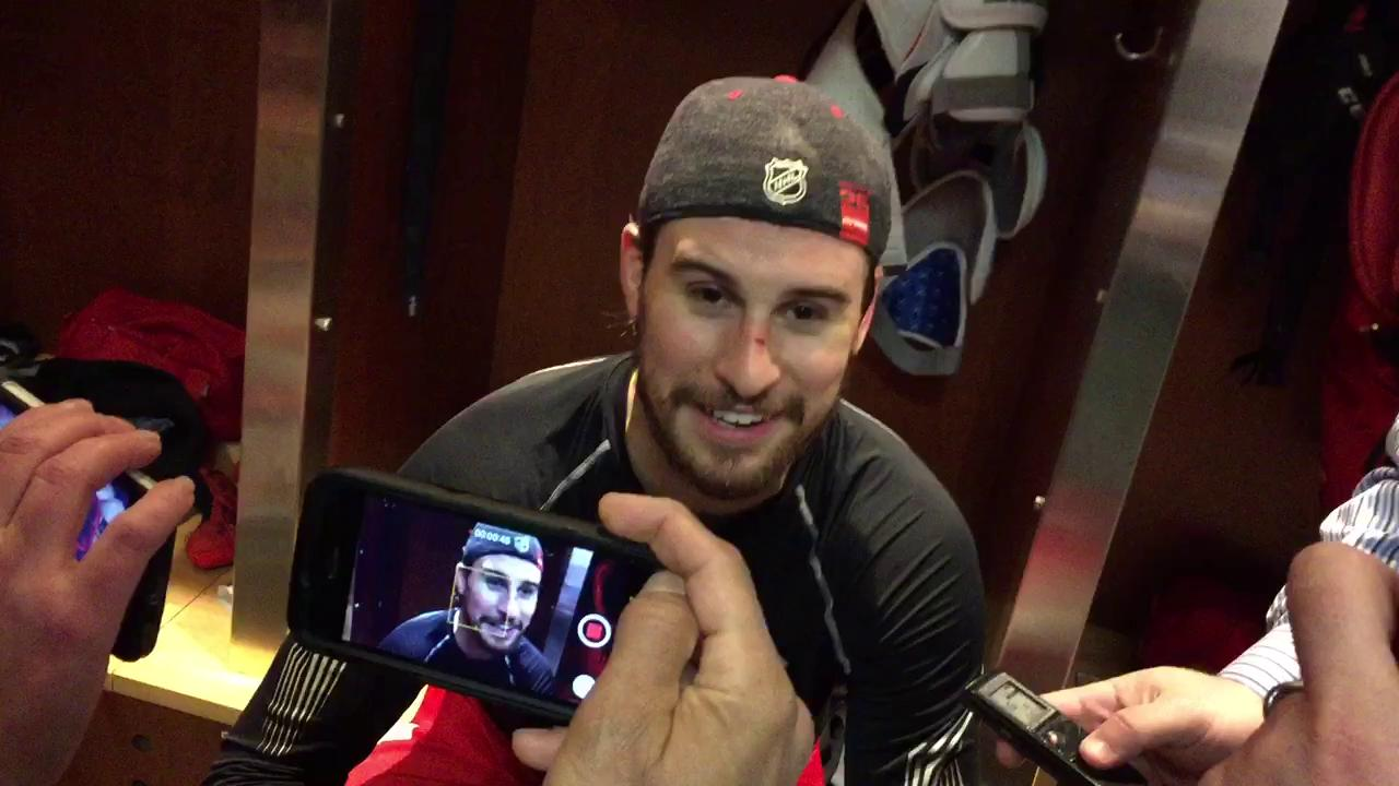 Red Wings defenseman Brendan Smith talks about being in trade rumors heading into the open week.