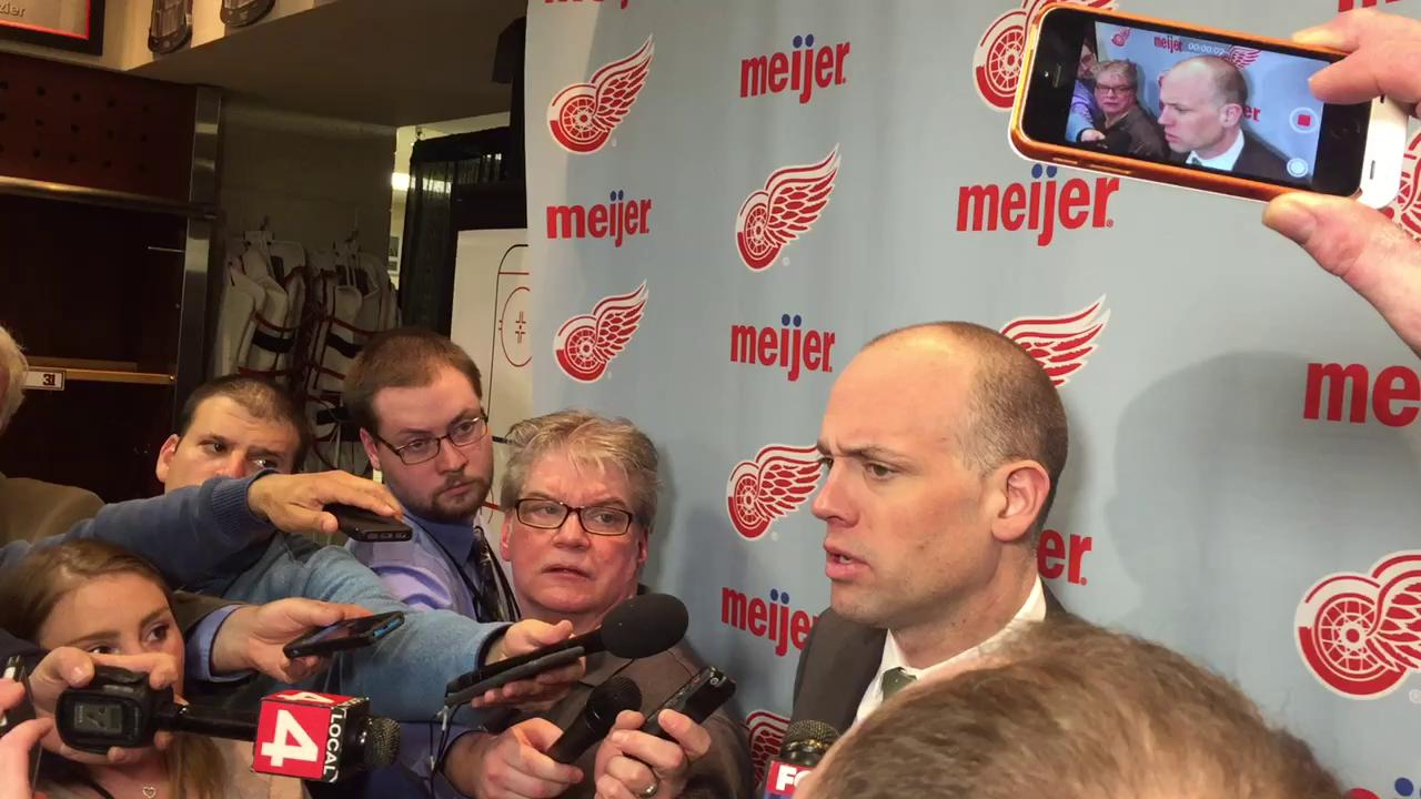 Coach Jeff Blashill credits goaltending and special teams for Saturday's shootout victory over Washington.