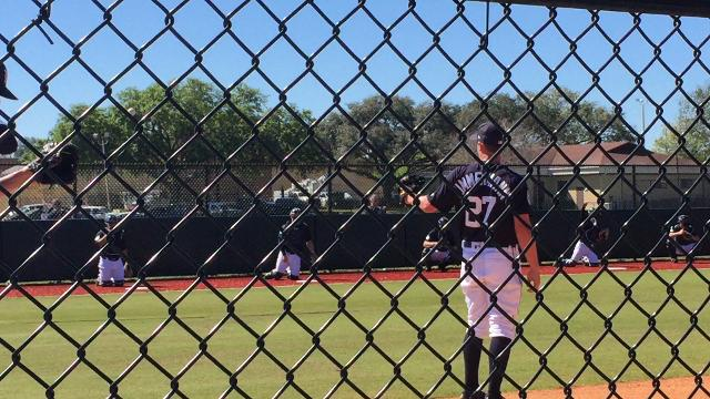 Tigers right-hander Jordan Zimmermann throws free and easy in second bullpen session.