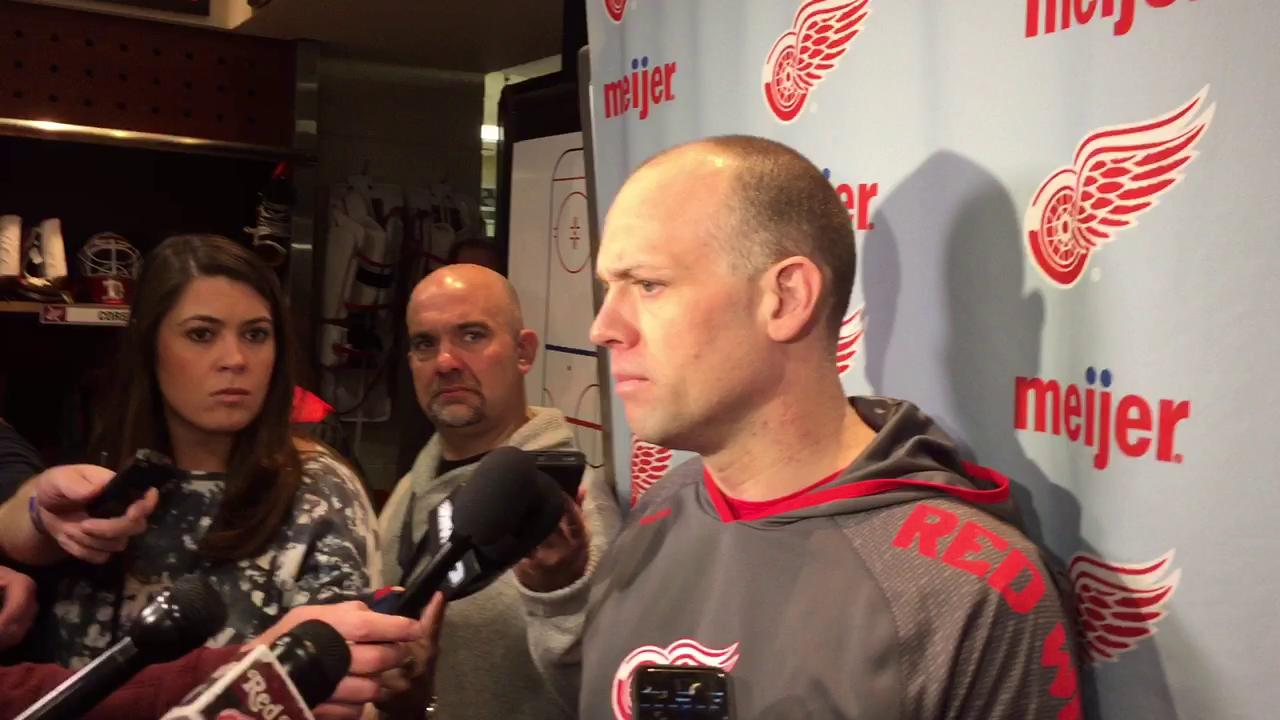 Coach Jeff Blashill on all the trade talk surrounding defenseman Brendan Smith and other Red Wings.
