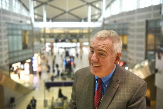 Joe Nardone, CEO, Wayne County Airport Authority, tours DTW