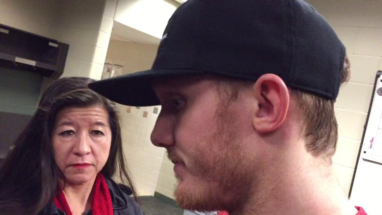 Gustav Nyquist comments on his high sticking infraction.