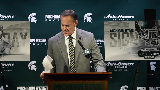 "Coach Mark Dantonio praises the 17 players who will form the core of the recruiting class,  which he calls ""very strong."""