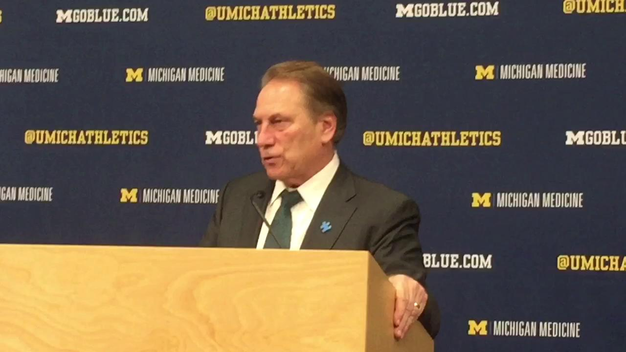The 29-point loss matched the worst to UM in Tom Izzo era