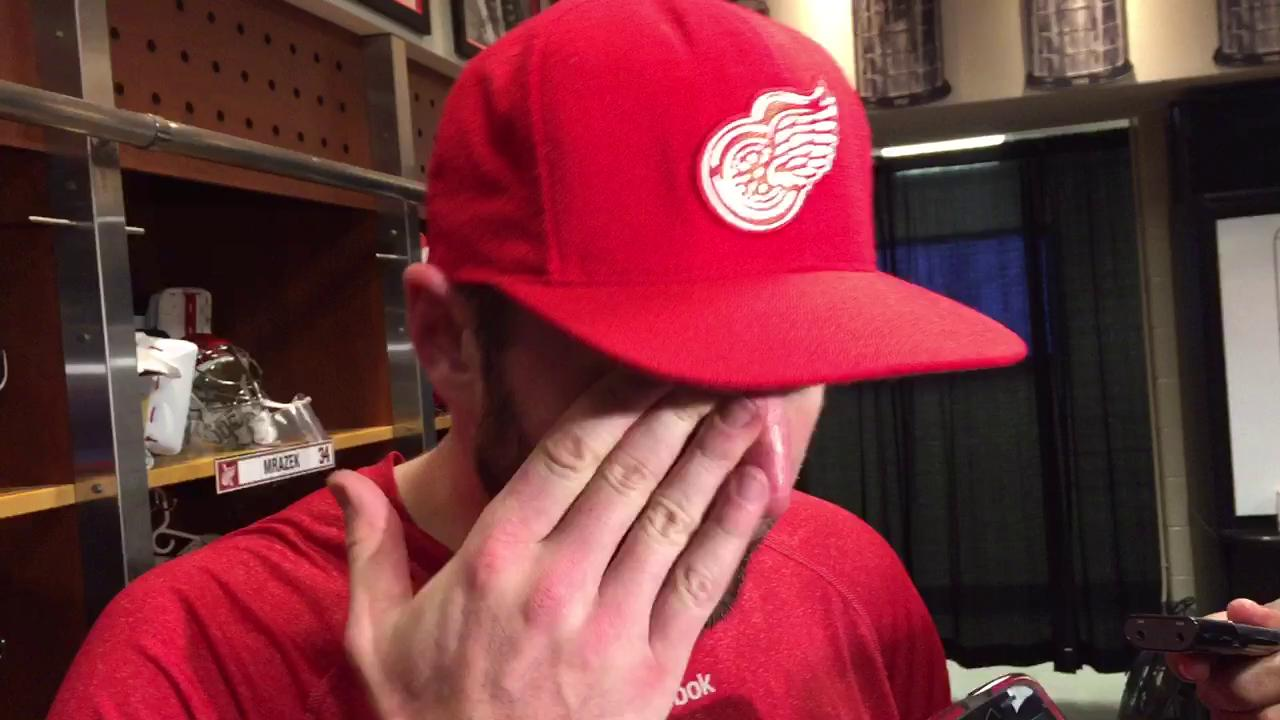 Forward Thomas Vanek on being speculated as a possible trade chip by the Red Wings.