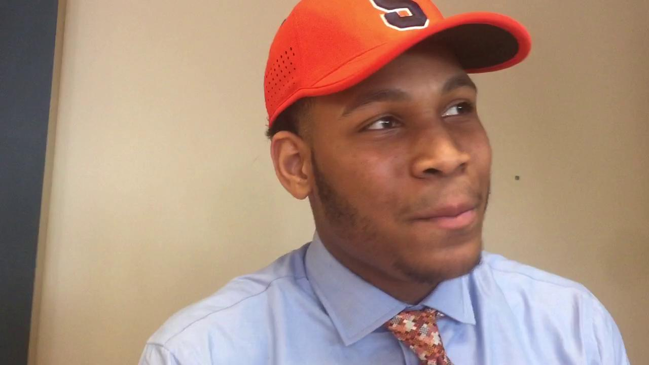 Zach Morton, a 6-foot-4, 235-pound defensive end, talks about signing to play at Syracuse.