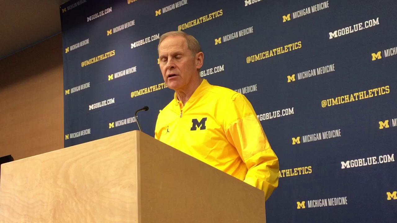Michigan coach talks about team's upcoming matchup against the Hoosiers.