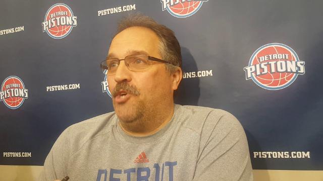 Pistons coach Stan Van Gundy talks about trade rumors heading into the deadline.