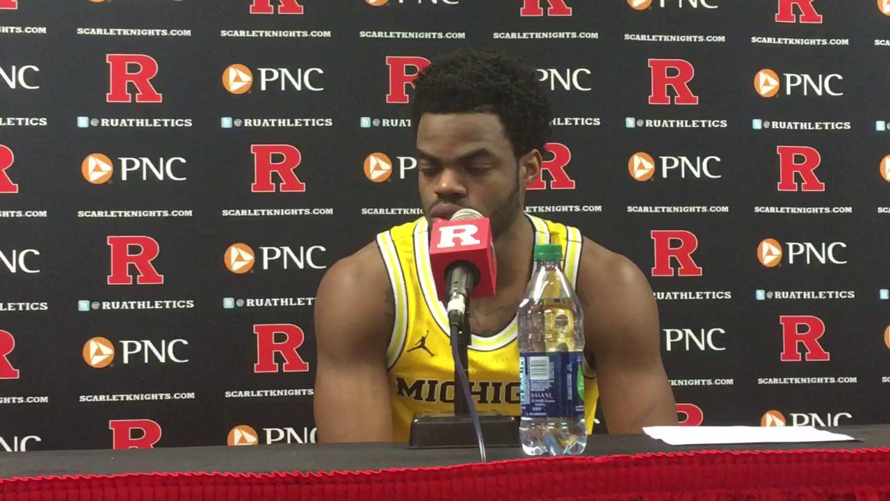 Senior guard talks about team's pivotal 10-0 run and free-throw woes in Wednesday's 68-64 win.