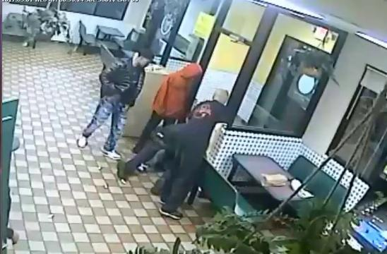 Three suspects accused of robbing a 56-year-old man at a Coney Island in the 15900 block of Grand River on Friday, March 3.