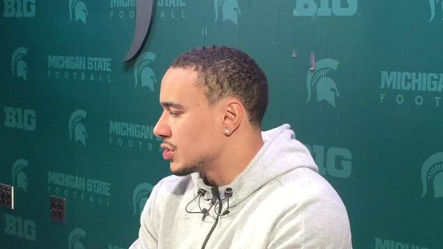 R.J. Shelton at MSU pro day