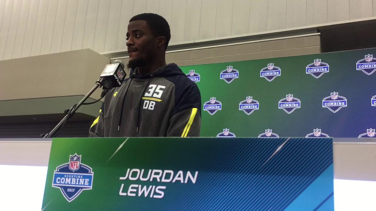 Former Michigan cornerback Jourdan Lewis says he was asked about his technique, not his height, during the NFL Combine.