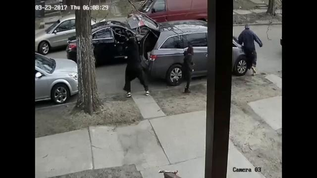 Non-fatal shooting, armed robbery attempt caught on tape