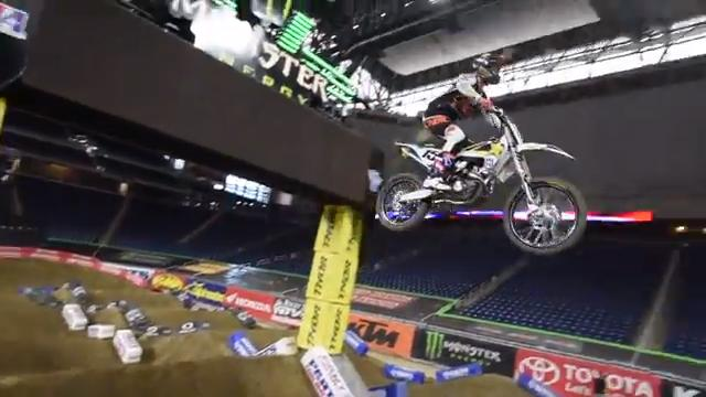 A Friday practice session before the Monster Energy AMA Supercross race on Saturday reveals what its like to take on those huge jumps --  and some disturbing revelations as well.