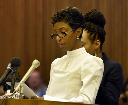 Faith Harris-Green, quadruple murderer Gregory Green and judge speak out at his sentencing in Detroit. Green will serve 47-102 years in prison for killing the couple's four children (two of his own young children and his two older step children).