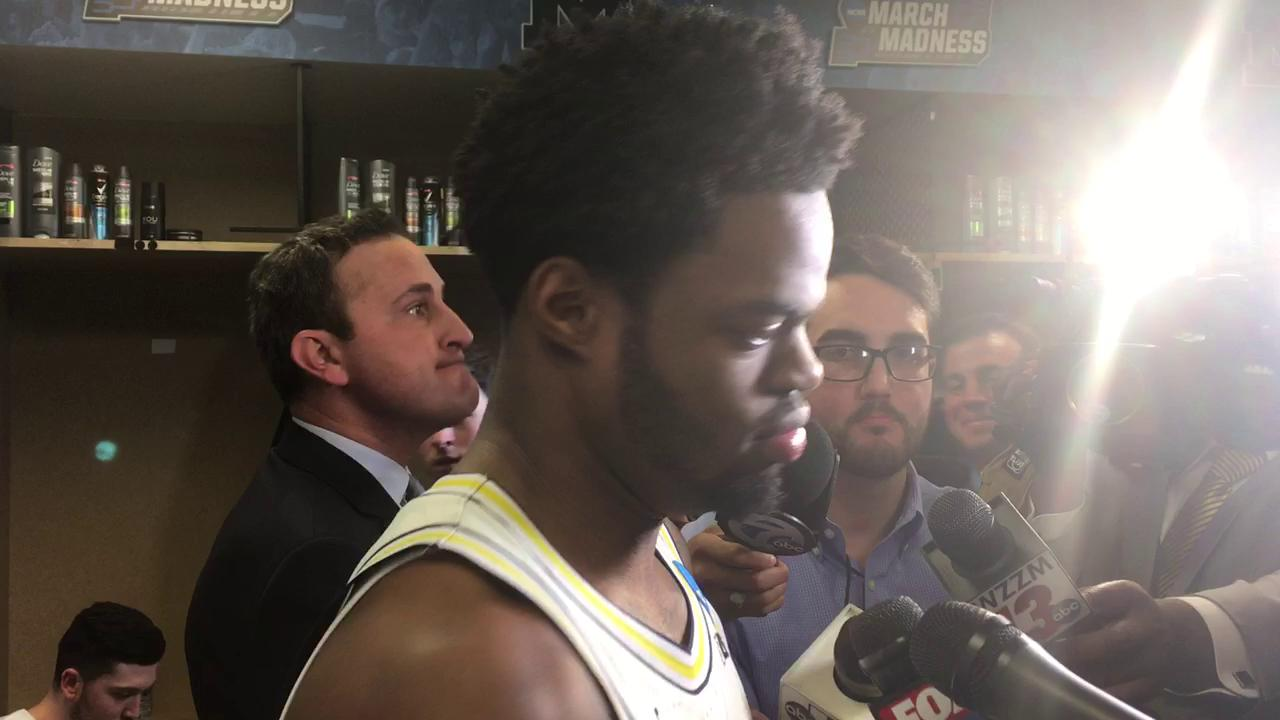Senior guard Derrick Walton Jr. talks about Michigan prevailing in Friday's 92-91 shootout in the first round of the NCAA Tournament.