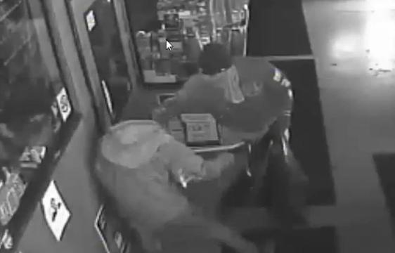 Two suspects break into Nino's Market at approximately 6 a.m. on Thursday,  March 2, 2017. The pry open a door, knock over a cash register and lottery machine and steal several items before fleeing.