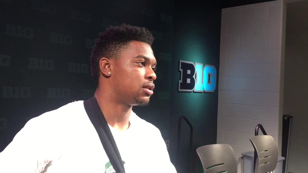 Junior safety Montae Nicholson is recovering from a torn labrum