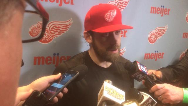 Red Wings captain discusses team's 6-1 defeat in Boston.
