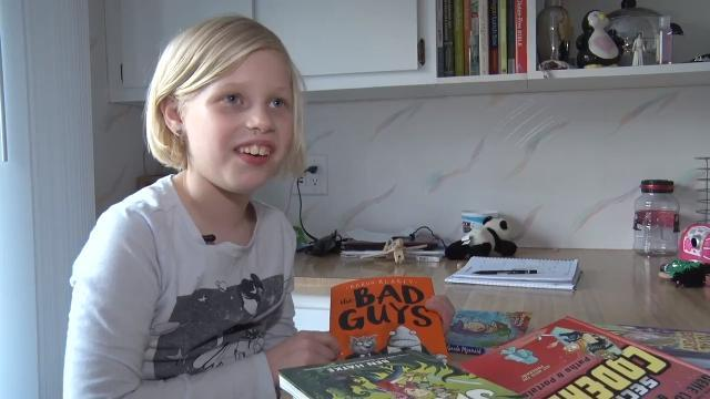Book blogger, 7, impresses authors, publishers