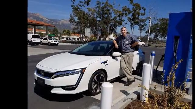 Detroit News auto critic Henry Payne goes to California -- the only state where it's available -- to drive the hydrogen-powered Honda Clarity.