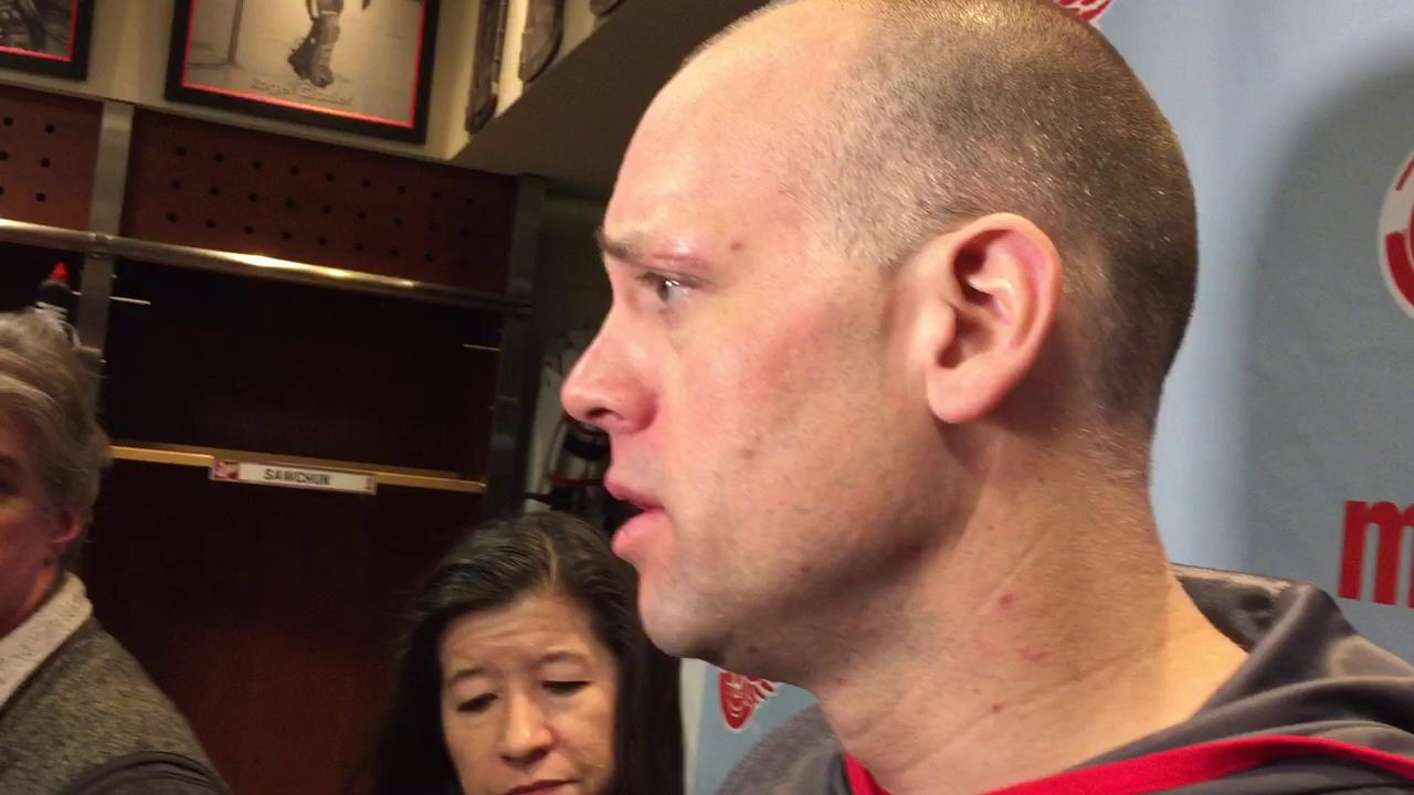 Red Wings coach Jeff Blashill talks about facing the rival Tampa Bay Lightning with no playoffs at stake.