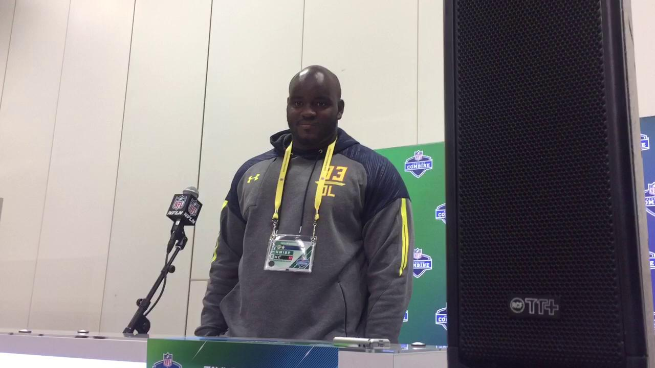 Moton talks about the versatility he brings and his ability to play both the guard and tackle positions.