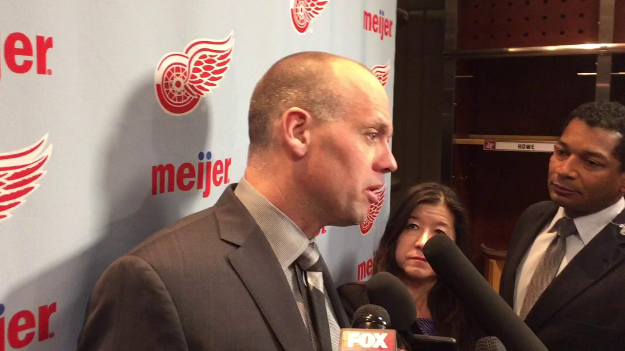 Coach Jeff Blashill didn't like the Red Wings' first period against Tampa.