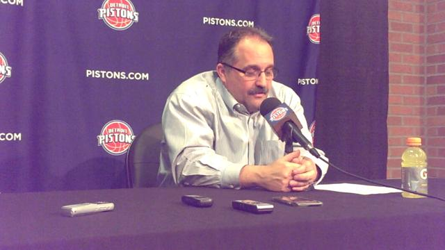 Stan Van Gundy discusses the Pistons' loss to the Utah Jazz.