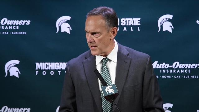 Michigan State football coach Mark Dantonio met with the media for the first time since national signing day (Feb. 1) to acknowledge the seriousness of allegations of sexual assault against three players on the Spartans football team.