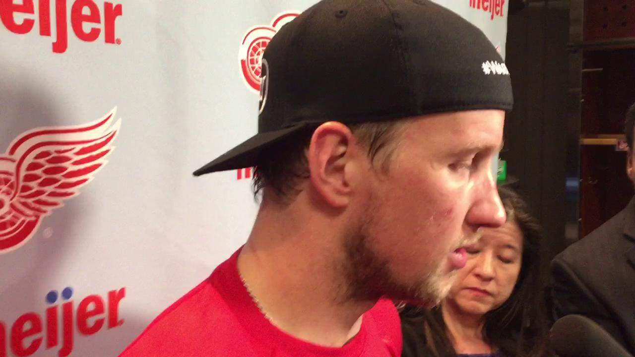 Justin Abdelkader says a slow start doomed the Red Wings Friday against Tampa.