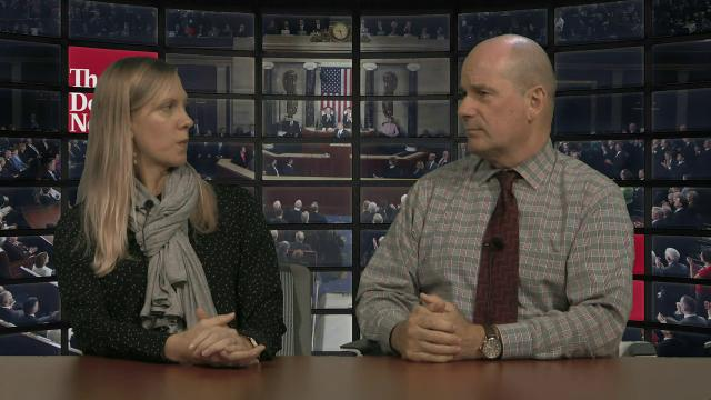 Detroit News editorial board members Nolan Finley and Ingrid Jacques discuss Donald Trump's Feb. 28 speech to a joint session of Congress.