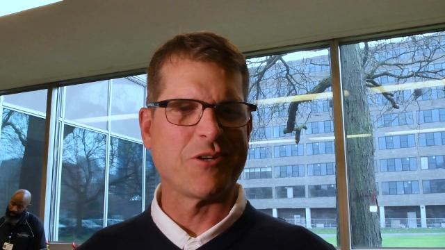 Michigan football coach Jim Harbaugh talks about his expectations for the team's upcoming trip to Rome, Italy.
