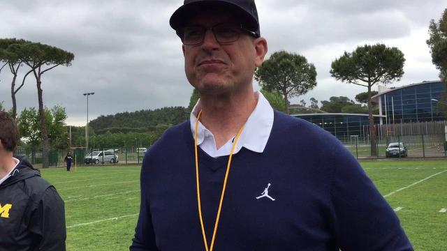 Harbaugh talks about practice
