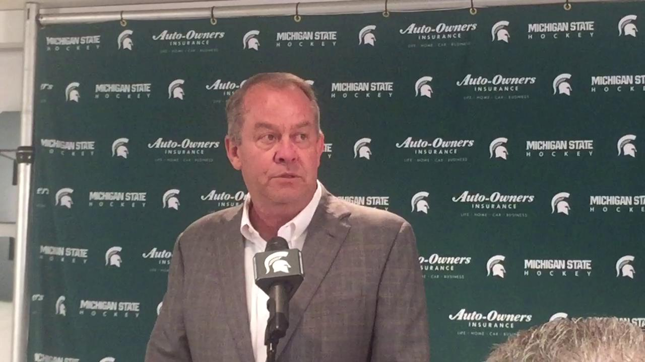 Danton Cole, a former player, became Michigan State's seventh hockey coach in program history.