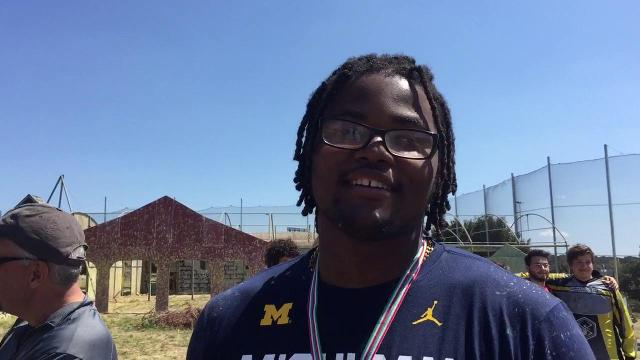Pep Hamilton and Rashan Gary