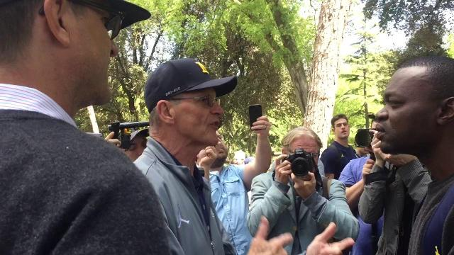 Jim and Jack Harbaugh explain football