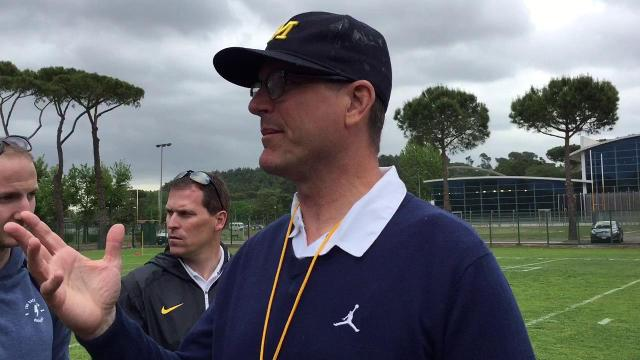 Jim Harbaugh raves about practice facilities