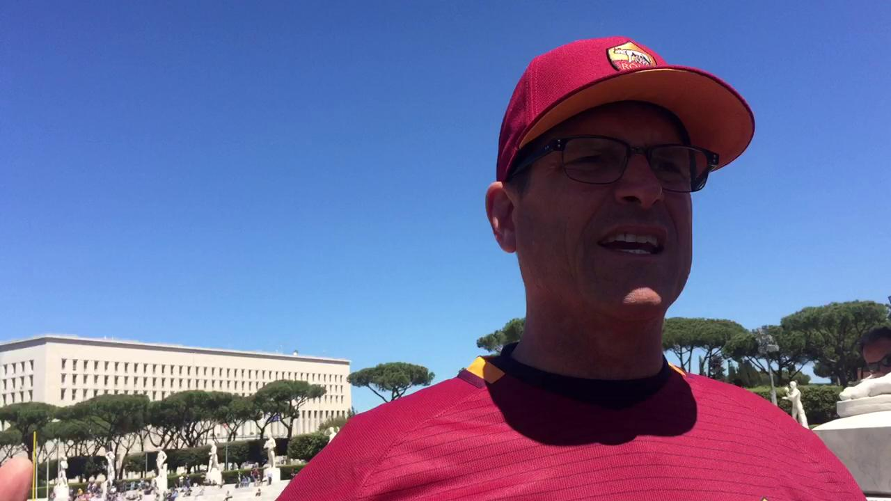 Jim Harbaugh says he hopes other programs do trips like the one Michigan took to Rome.