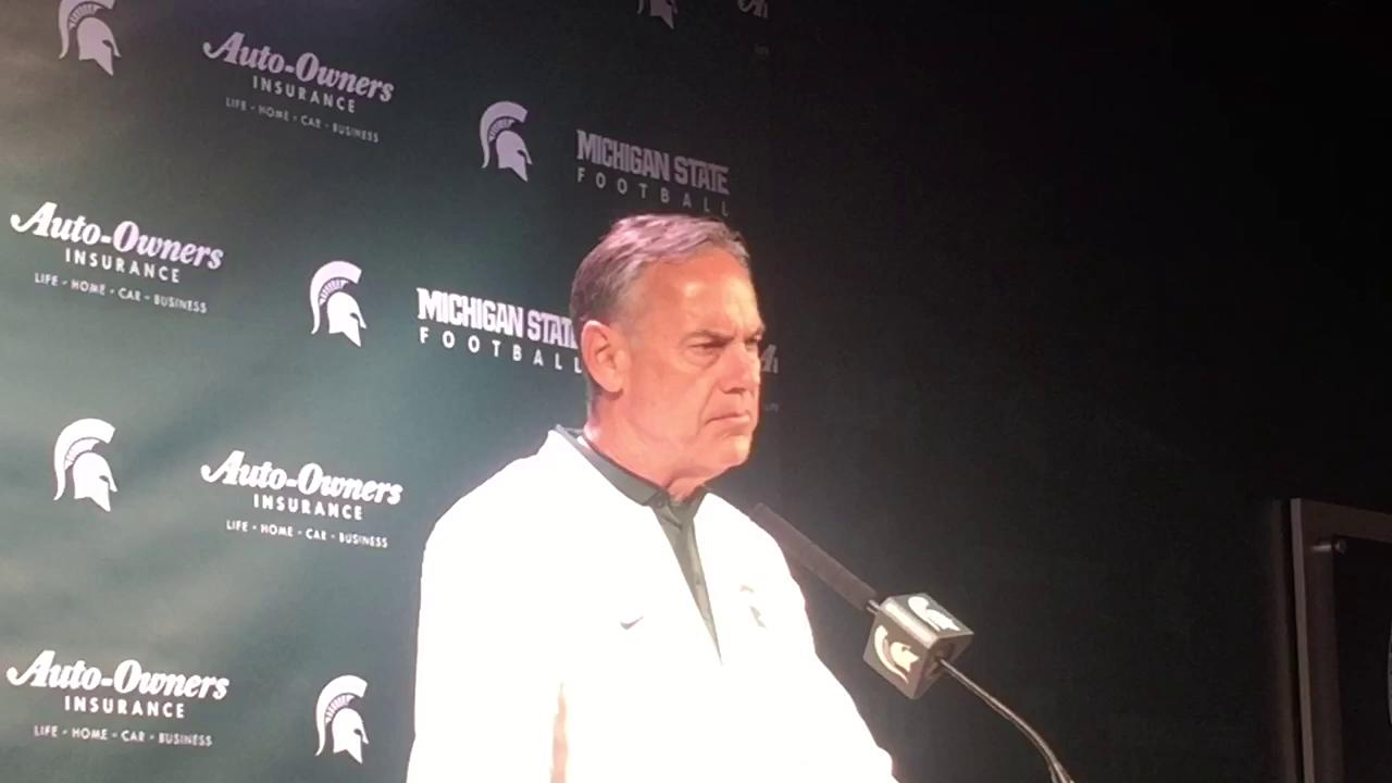Mark Dantonio talks about MSU's spring game and the play of QB Brian Lewerke