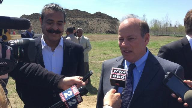 Mayor Mike Duggan on the new Flex-N-Gate facility